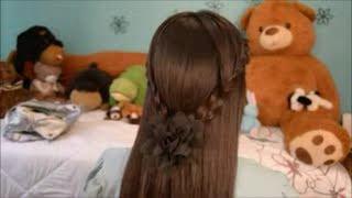 Peinado Sencillo con Dos Trensas
