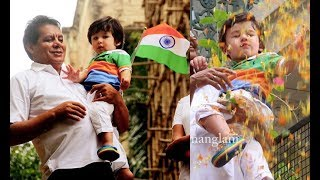Taimur Ali Khan Cutely Celebrates Independence Day By Hoisting The Tricolour Flag