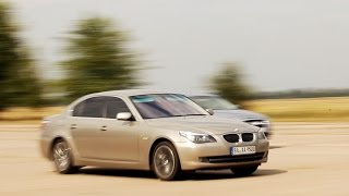 BMW 535d biturbo E60 vs BMW 540 vs BMW 330 vs Audi A6 3.0 TDI vs Vectra 2.8T (drag racing)
