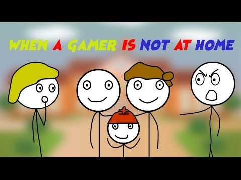WHAT HAPPENS WHEN A  GAMER IS NOT AT HOME!!! GAMING PARODY!!
