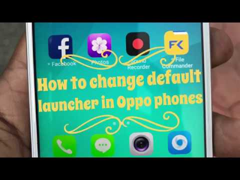 Oppo color OS launcher - How to change it