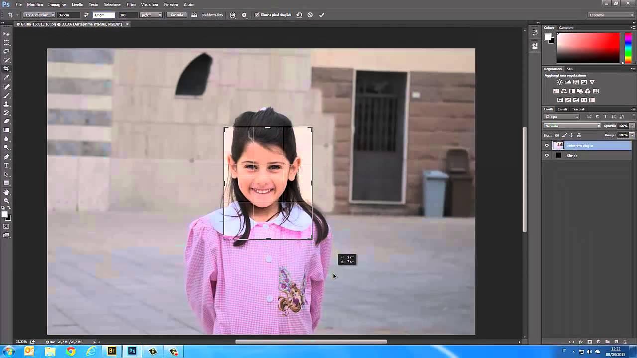 Photoshop Cc Cs6 Tutorial Italiano Realizzare Foto Tessera