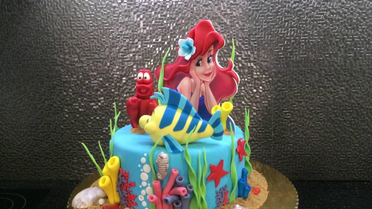 THE LITTLE MERMAID Birthday Cake YouTube