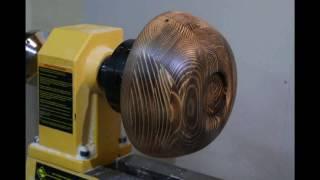 Чаша из обрезков сосны на токарном станке по дереву. Stop Motion Animation