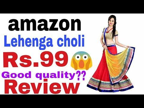 eeca11353a amazon | Lehenga choli under 100 | @99 | Review | decent | quality ...