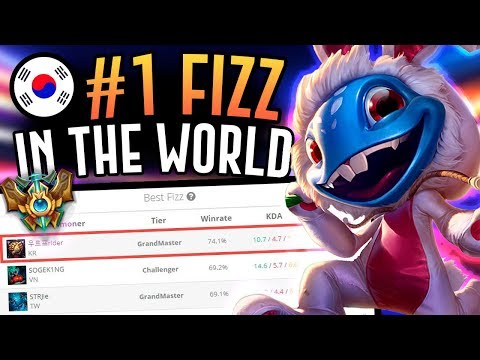 THE NUMBER ONE FIZZ PLAYER IS CRAZY GOOD!! Korean Grandmaster Fizz Mid - League of Legends