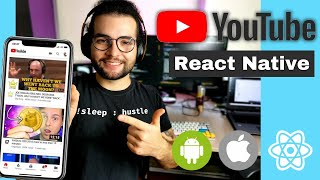 Let's Build the YouTube App with REACT NATIVE for Beginners