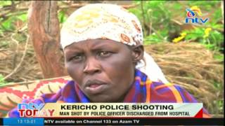 Man shot by police officer discharged from hospital