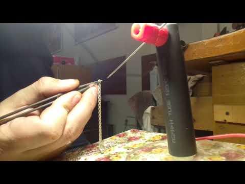 Ремонт серебряной цепочки с помощью электроимпульсной сварки
