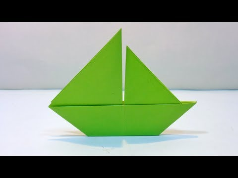 How to Make 2D Paper Sailboat | Easy Origami Paper Boat Tutorial for Kids