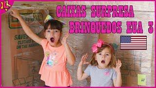 LAURINHA E HELENA ABRINDO CAIXAS SURPRESAS DE BRINQUEDOS DOS ESTADOS UNIDOS 3 ❤ SURPRISE TOY BOX