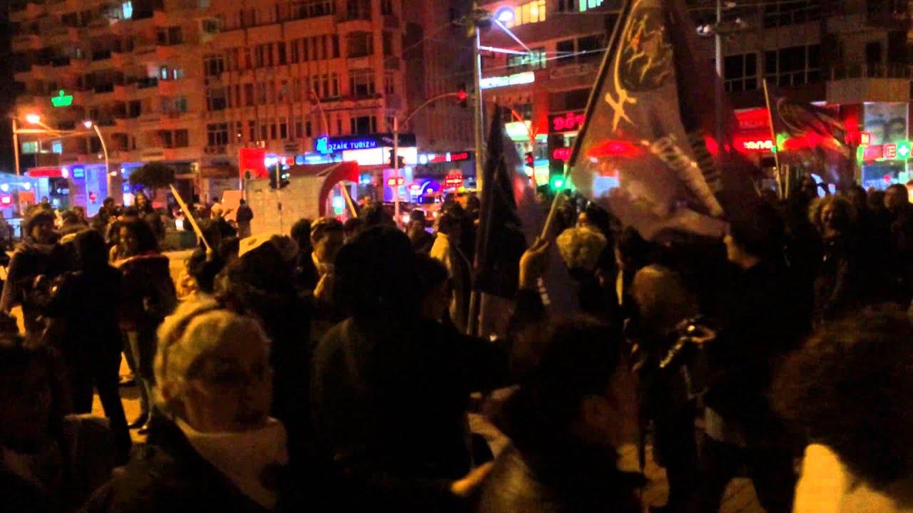 Manifestație feministă la Antalya, Turcia