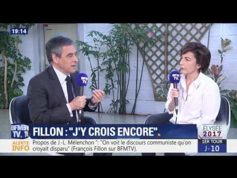 François Fillon invité de Ruth Elkrief sur BFM TV