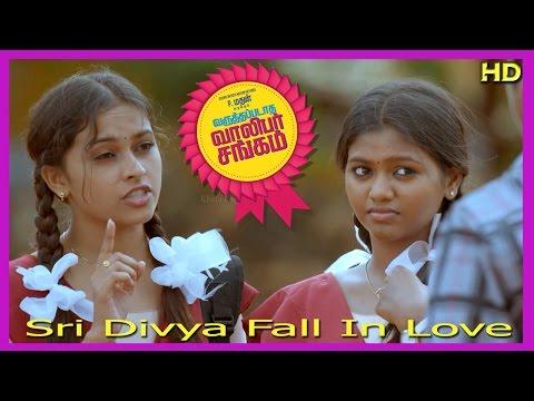 Varuthapadatha Valibar Sangam Tamil Movie   Scenes   Sri Divya Fall In Love