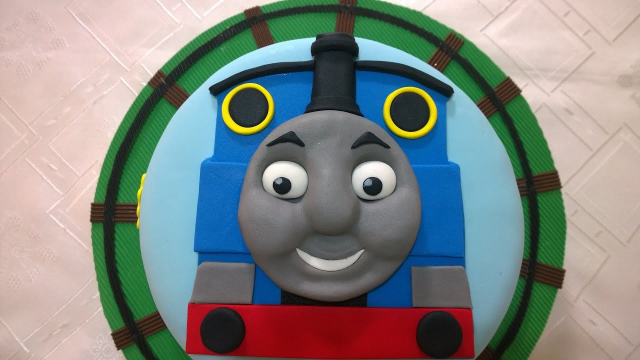 Thomas Train Cake, Step by Step - YouTube