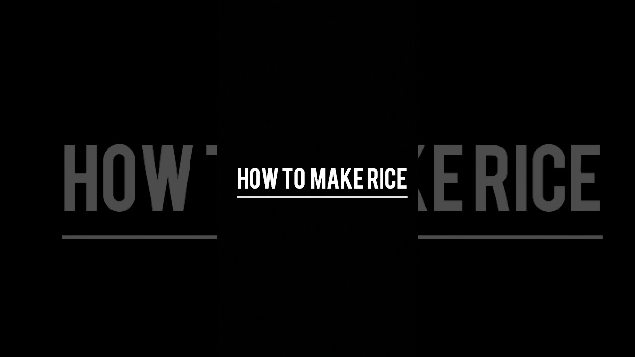 Download #MLMC1 - RIFKY MAULANA - HOW TO MAKE RICE