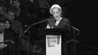 Gillian Anderson performs a letter by Helen Keller