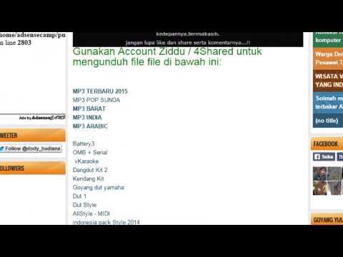 Cara Download MP3, Midi dan berbagai Jenis File
