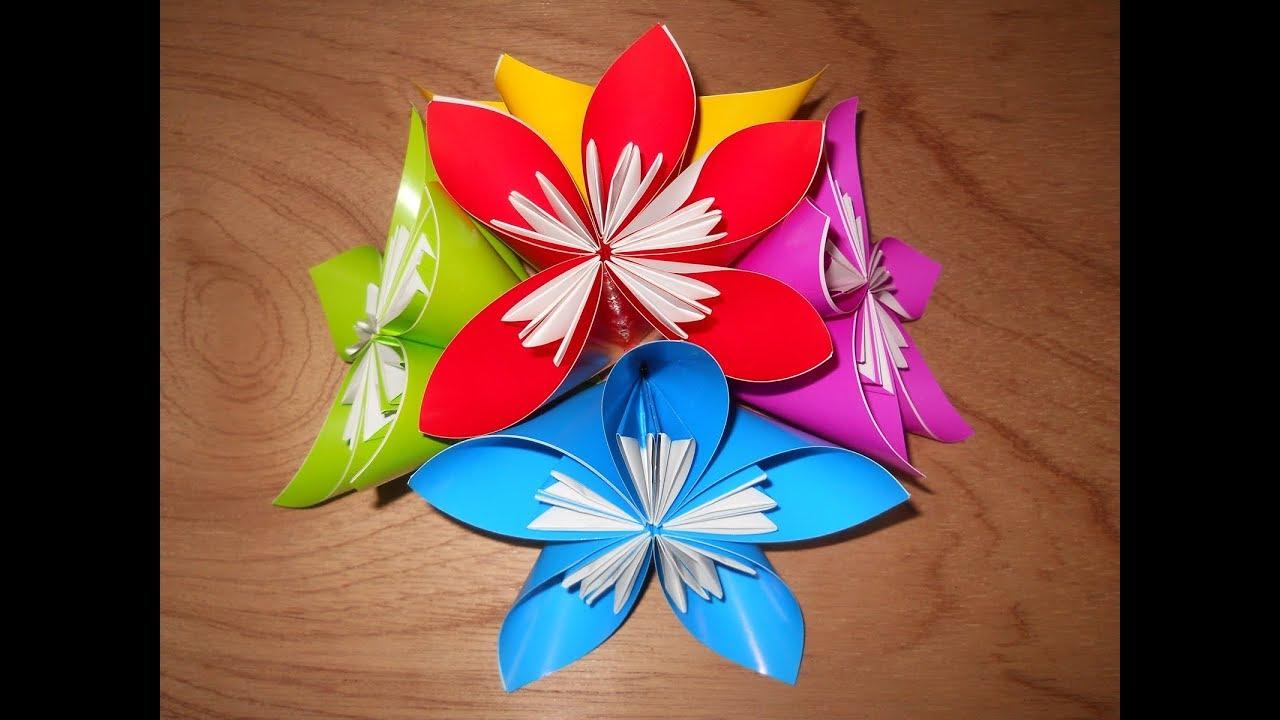 Origami Cara Membuat Hiasan Bunga Dari Kertas Lipat Youtube