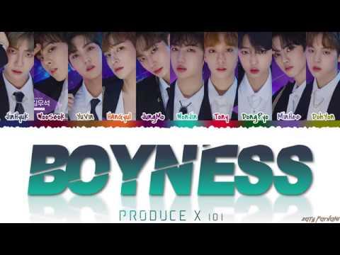 PRODUCE X 101 - 'BOYNESS' [소년미 (少年美)]Lyrics [Color Coded_Han_Rom_Eng]