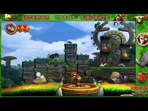 Wii l Guía l Donkey Kong Country Returns l # 1 l ¡ Mundo 1 : Mapa 1 - 1 y 1 - 2 !