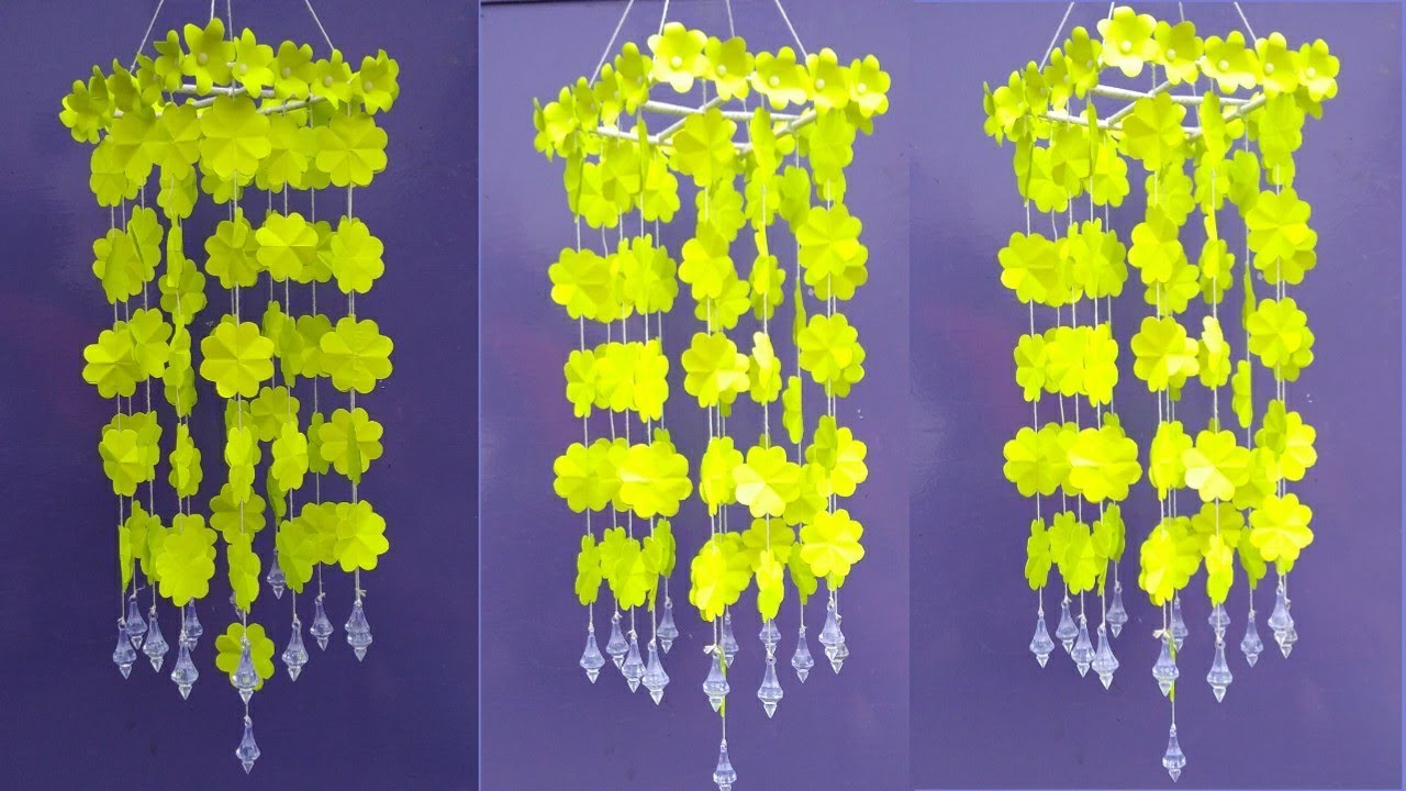 wow making beautiful jhumar with color paper  jhumar