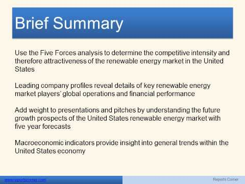 Renewable Energy in the United States - Reports Corner