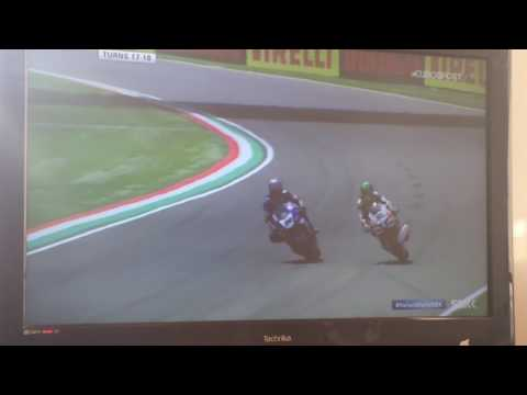 World superbike fire ball crash