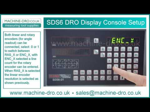 How To Enter The SDS6 Digital Readout Display DRO Console