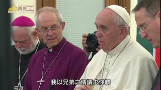 教宗為南蘇丹懇求和平 跪地親吻敵對領袖雙足