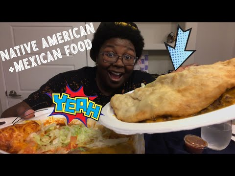 Native American & Mexican Food MUKBANG | Indian Frybread Taco 🌮 |Spicy Enchiladas| Mini Eating Show
