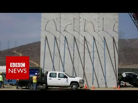 Trump's prototypes for Mexico border wall appear - BBC News