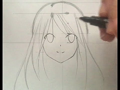 anime girl drawing tutorial