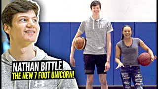 Nathan Bittle Is The NEXT 7 FOOT UNICORN!! Can Pass, Shoot AND Handle The Ball!