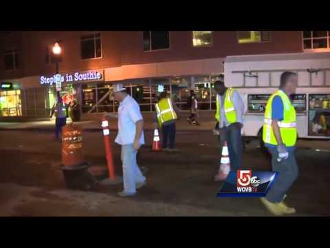 South Boston water pipe break repaired