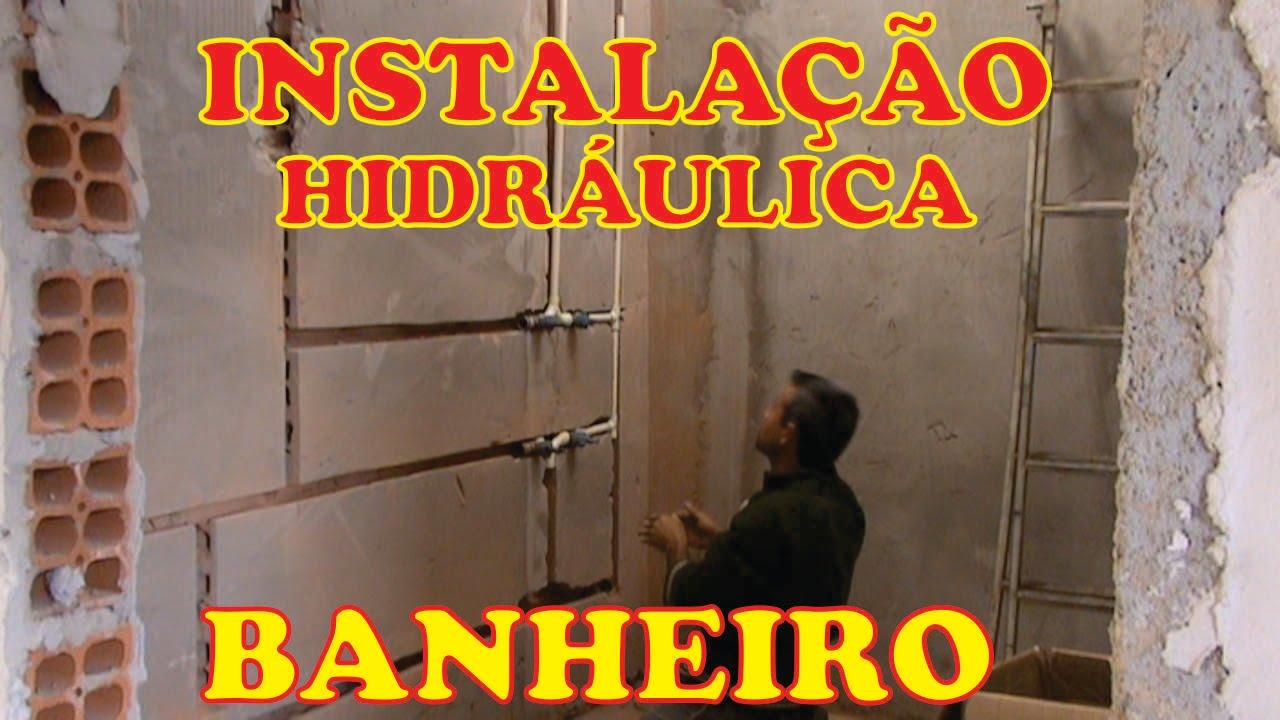 INSTALAÇÃO HIDRÁULICA DO BANHEIRO #PARTE 2 Vídeo demosntrativo  YouTube -> Hidraulica Pia De Banheiro