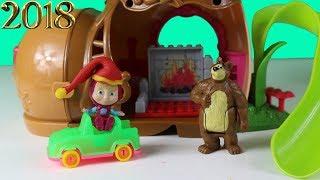 Maşa Koca Ayı Yılbaşı Kutlaması Yapıyor Noel Baba Maşa Heidi Ve Clara'ya Hediyeler Getiriyor