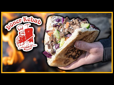 ???? Big Döner im Wald ???? auf Lagerfeuer kochen - Outdoor Bushcraft Deutschland