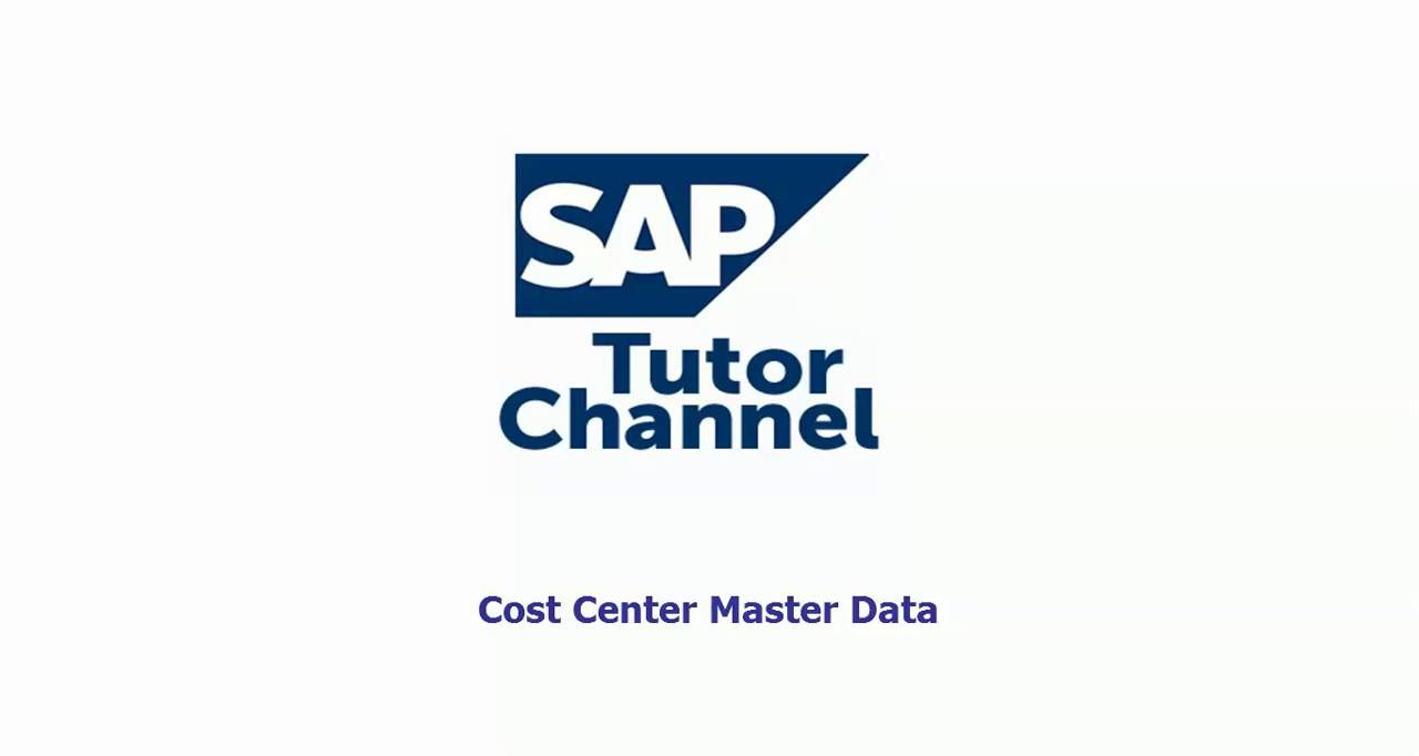 cost center master data