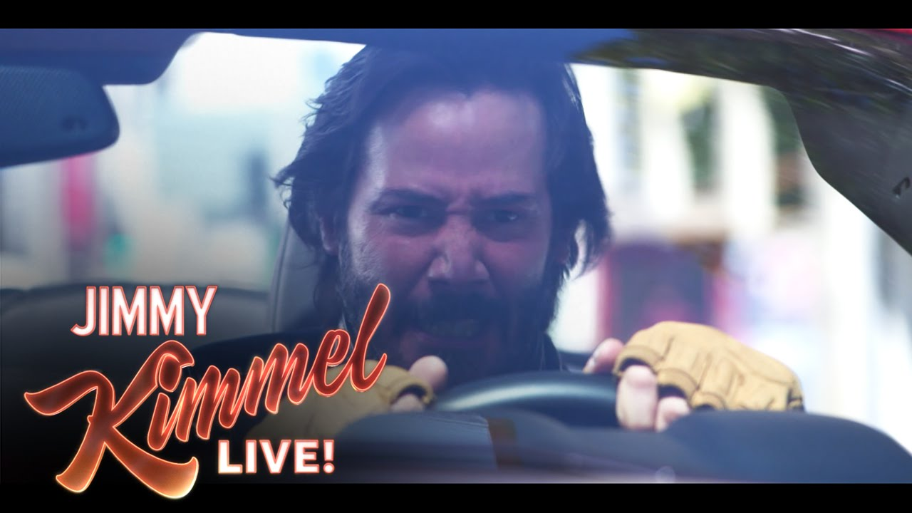 "画像: ""A Reasonable Speed"" with Jimmy Kimmel and Keanu Reeves youtu.be"