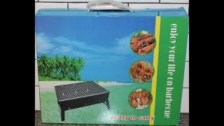 Uten Portable Barbecue Chaŗcoal Grill Unboxing & Review