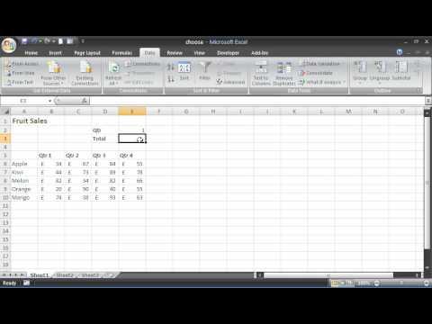 Choose Formula In Excel