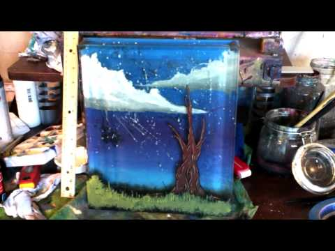 """Four Layer 3D Glass Painting"" by ThadTaylorArt"