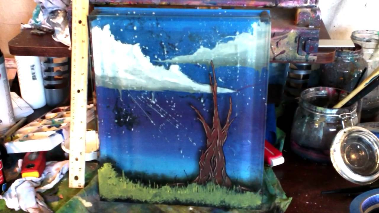 Quot Four Layer 3d Glass Painting Quot By Thadtaylorart Youtube
