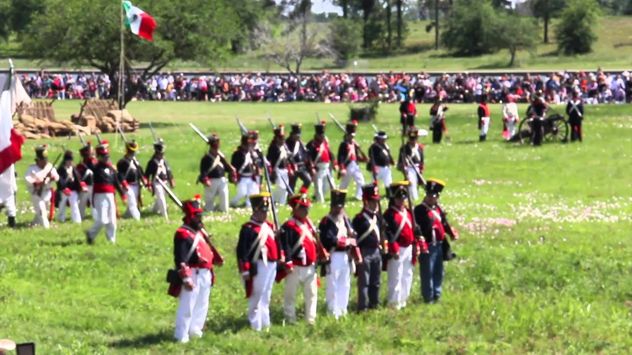 San Jacinto Battle Reenactment YouTube - Battle of san jacinto map us