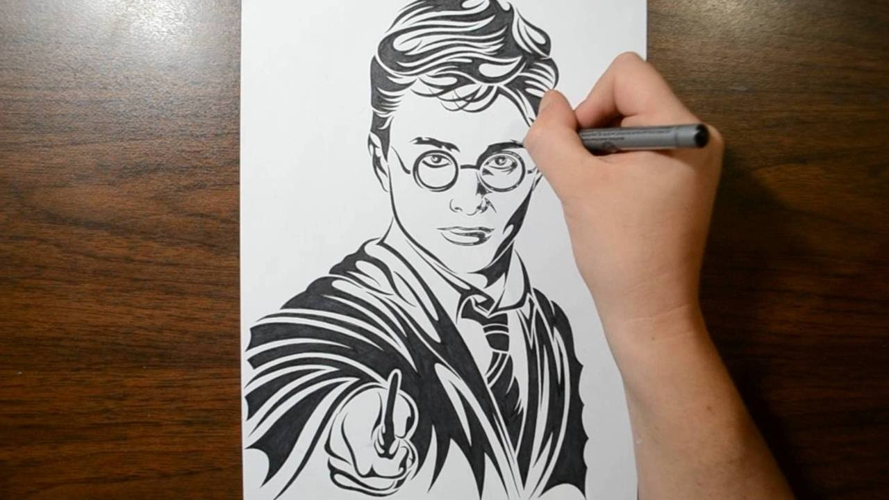 drawing harry potter tribal tattoo design style youtube