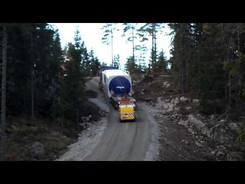 Windmill transport Vestas V90