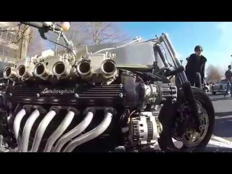 Moto lắp động cơ Lamborghini - Siêu khủng