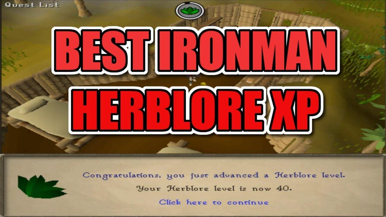 BEST IRONMAN HERBLORE XP #2 (Ironman OSRS)
