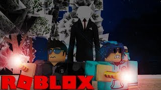 2 IDIOTS GETTING KILLED BY SLENDERMAN IN THE WOODS! (Roblox)